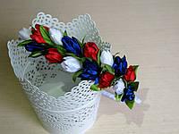 Обруч с тюльпанами половинка 65 грн, фото 1