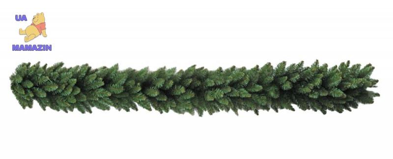 Новогодняя литая гирлянда хвойная 250см Ель Ковалевская Зеленая 2.5м Рождественская