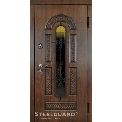 Вхідні двері Стілгард Steelguard серія Resiste Vicont Glass