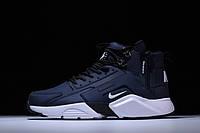 Кроссовки ACRONYM x Nike air Huarache CITY MID LEA 856787-401 зимние демисезон реплика