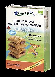 Детское растворимое печенье Fleur Alpine ЯБЛОЧНЫЙ МАРМЕЛАД 150 г