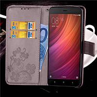 Чехол Clover для Xiaomi Redmi Note 4X / Note 4 Global книжка Gray женский