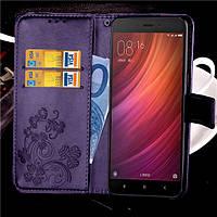 Чехол Clover для Xiaomi Redmi Note 4 / Note 4 Pro Global книжка кожа PU женский Purple