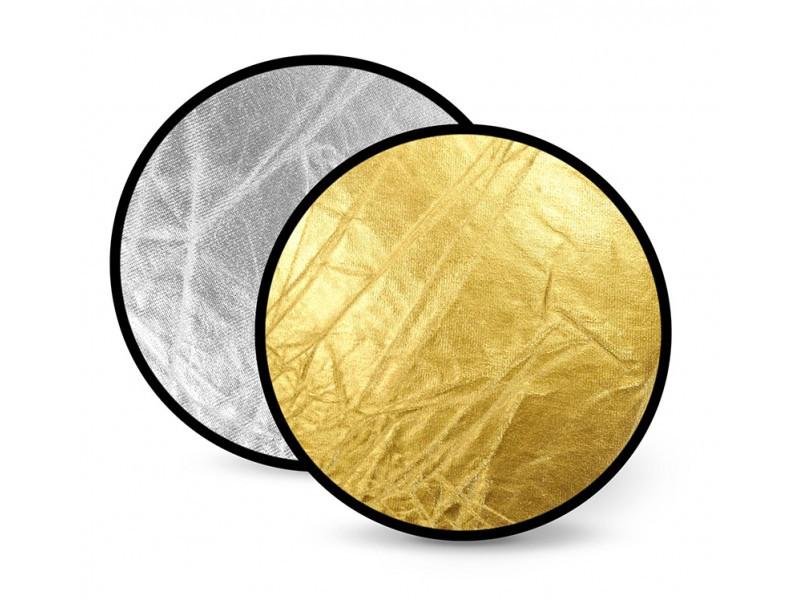 Фото отражатель, рефлектор 2в1 золото+серебро 30см - Sat-ELLITE.Net - 1-й Интернет-Cупермаркет в Киеве