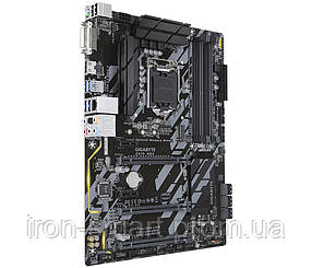 Мат.плата 1151 (Z370) Gigabyte Z370 HD3, Z370, 4xDDR4, CrossFire, Int.Video(CPU), 6xSATA3, 1xM.2, 3xPCI-E 16x 3.0, 3xPCI-E 1x 3.0, ALC892, I219-V,