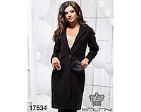 Ledi M Женское элегантное пальто BL17534 черный Леди М