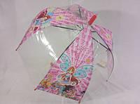 Прозрачный зонт-колокол с мультиками для девочек № 029 от Max Komfort