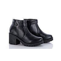 Демисезонные подростковые ботинки на тракторной подошве из эко-кожи 38,39р.