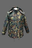 Куртка зимняя Тайга с капюшоном камуфлированная