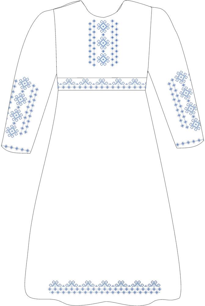 ВПД-11. Заготовка для вишивки бісером Дитяче плаття.