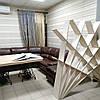 Стол и стеллаж для книг из фанеры