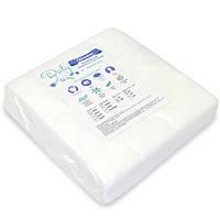 Салфетки влаговпитывающие СПАНЛЕЙС 20х20, гладкие/сетка, 100 шт/уп