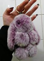 Зайка брелок из искуственного меха, зайчик, меховой брелок на сумку