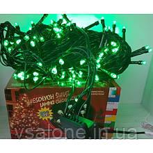 Новорічна світлодіодна гірлянда LED зелений 200