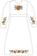 ВПДП-5. Заготовка для вишивки бісером Дитяче плаття домоткане
