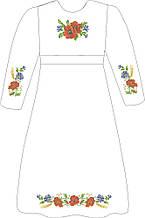 ВПДП-5. Заготівля для вишивки бісером Дитяче плаття домоткане