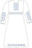 ВПДП-11. Заготовка для вишивки бісером Дитяче плаття домоткане