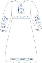 ВПДП-11. Заготівля для вишивки бісером Дитяче плаття домоткане