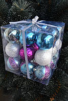 Ёлочные игрушки в коробке (8762/17) 7 см.