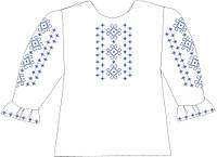 СВДЛ-11. Заготовка для вишивки бісером Дитяча блузочка лляна сіра.