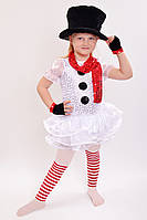 Карнавальный костюм Снеговик для девочки