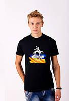 Черная футболка с принтом  Греко-Римская Борьба  для мужчин