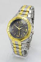 Мужские наручные часы Goldlis (черный циферблат с золотыми полосками) (Копия), фото 1