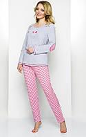 Женская пижама молодежная смайлик 46 48p Regina 837 Польша