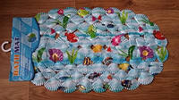 Детский силиконовый коврик в ванную Морское дно