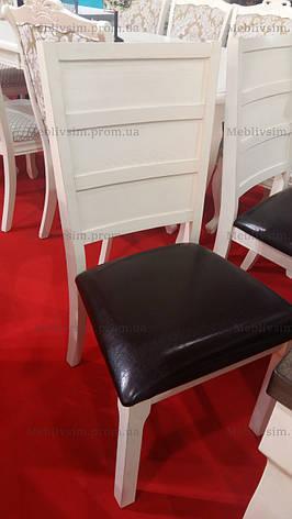 Стол обеденный деревянный Осло Sof, цвет орех + белый матовый, фото 2