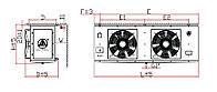 Воздухоохладитель DD-5.3/30 кубический Gaoxiang