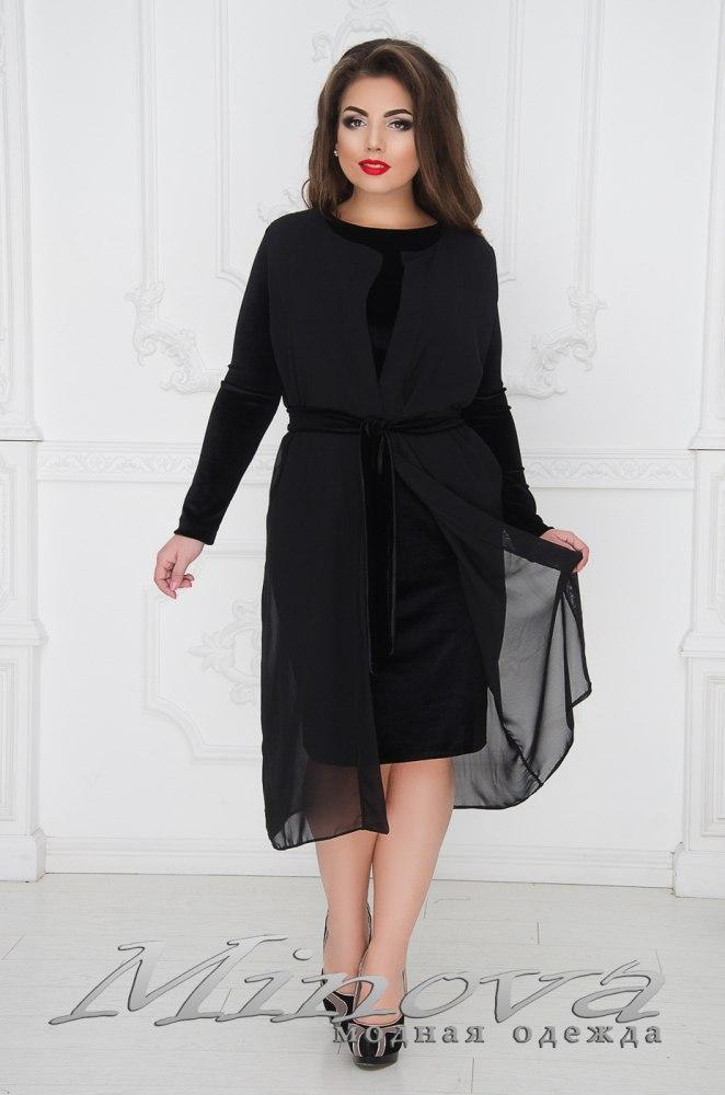 Комплект Платье+накидка большого размера