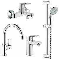 Смеситель для кухни Grohe BauLoop 123225K Смесители для кухни, ванны, умывальника, стойки S-Size