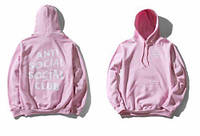 Худи Anti social social club , розовое с логотипом , унисекс (мужское,женское,детское)
