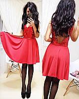 Платье из пайетки с открытой спиной и расклешенной юбкой 505481