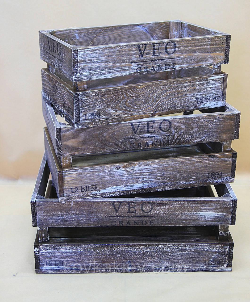 Ящик 6 Малый деревянный., фото 1