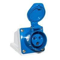 Розетка стацион. внешняя 113 16А 220-250В 3 контакта (2P + E) IP44 Синий