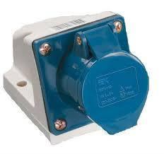Розетка стацион. внешняя 113 16А 220-250В 3 контакта (2P + E) IP44 Синий, фото 2