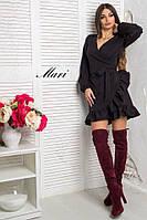 Платье с рюшаями на юбке и верхом на запах 73501