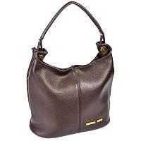 Женская сумка коричневая вместительная на плечо М129-40