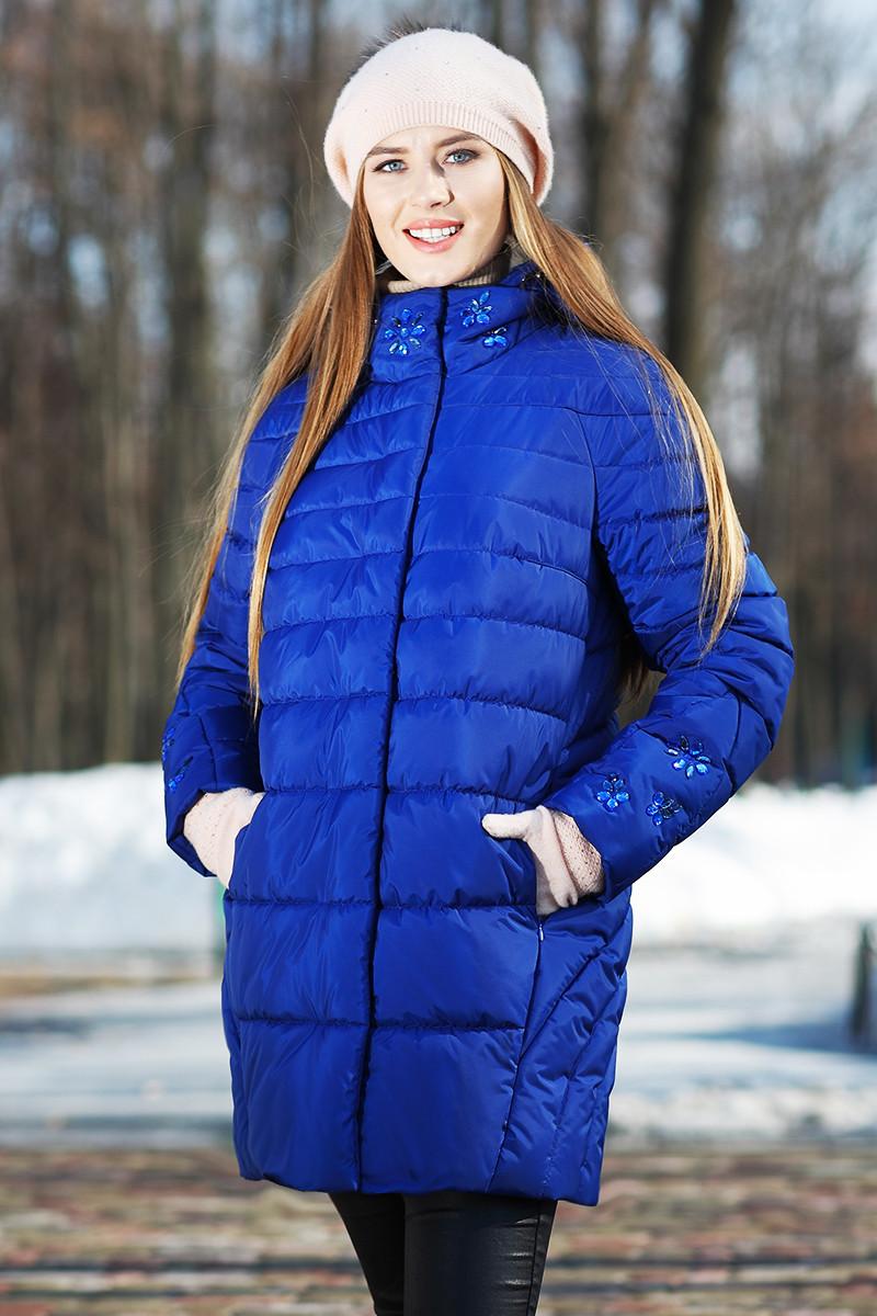 Удлиненная зимняя куртка пуховик. Полупальто  - Модный магазин в Киевской области