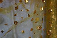 Ткань Фатин Копейка Золото