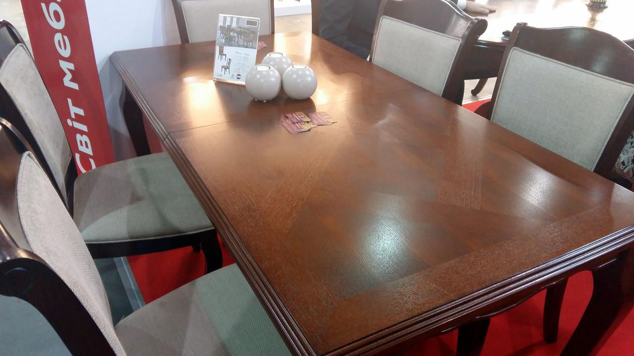 Стол обеденный деревянный для гостиной Вена (Відень) Sof, цвет орех