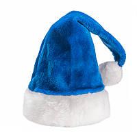 Новогодняя шапочка меховая синяя
