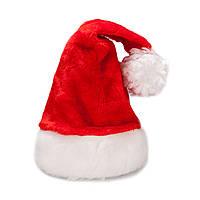 Новогодняя красная шапочка меховая