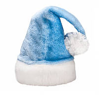 Новогодняя шапочка меховая голубая