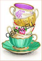Схема для контурной вышивки бисером «Чаепитие»