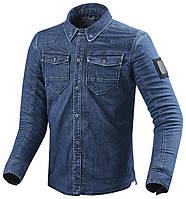 Мото рубашка с защитой Revit Hudson джинс синяя, S