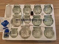 Набор стеклянных банок, 12 шт..