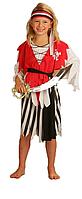 Карнавальный костюм Пиратка, S/M/L юбка/рубашка/бандана/пояс